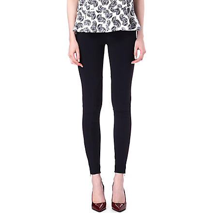 STELLA MCCARTNEY Zip-detailed leggings (Teal