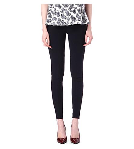 STELLA MCCARTNEY Zip-detailed leggings (Teal