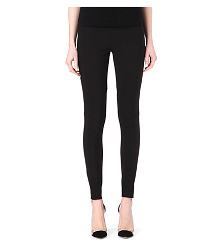 STELLA MCCARTNEY Zip-detail cotton-blend leggings (Black