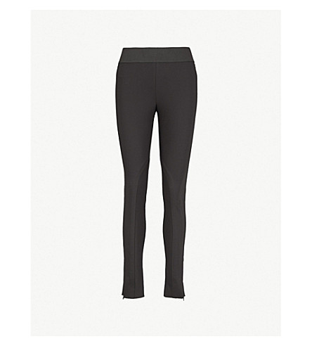 STELLA MCCARTNEY Zip-detail cotton-blend leggings (Blk