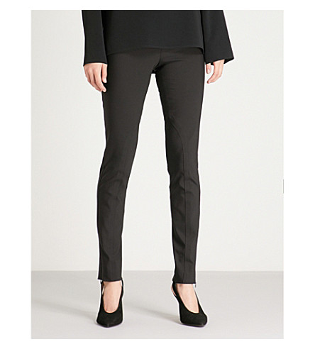 STELLA MCCARTNEY Zip-detail cotton-blend leggings (Blk