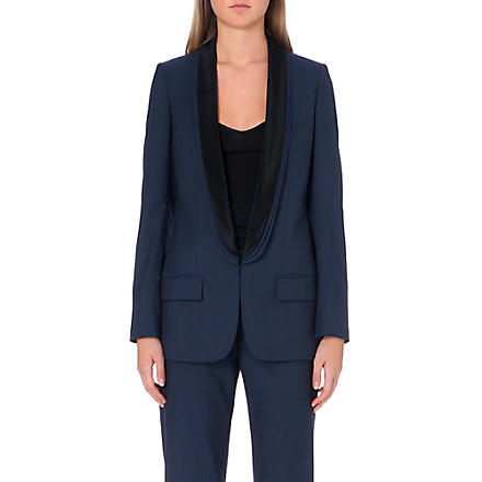 STELLA MCCARTNEY Mathilda triple-lapel blazer (Navy