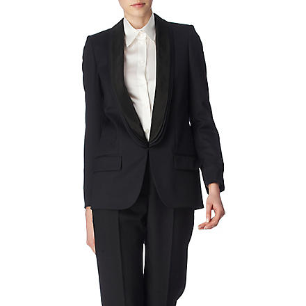 STELLA MCCARTNEY Triple-lapel tuxedo jacket (Black