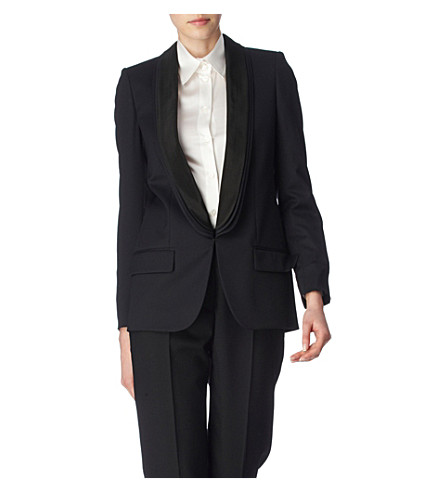 STELLA MCCARTNEY Mathilda triple-lapel blazer (Black