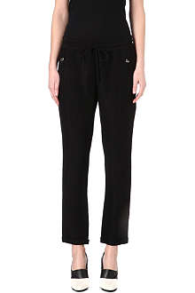 STELLA MCCARTNEY Python-effect cropped trousers