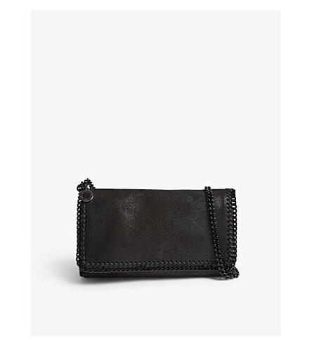 STELLA MCCARTNEY Falabella shaggy deer faux-suede cross-body bag (Black