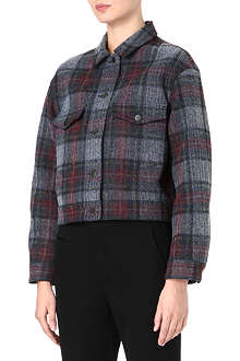 STELLA MCCARTNEY Tartan denim jacket