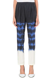 STELLA MCCARTNEY Tie-dye silk trousers