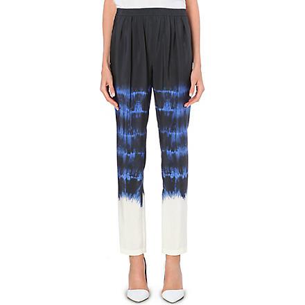 STELLA MCCARTNEY Tie-dye silk trousers (Blue