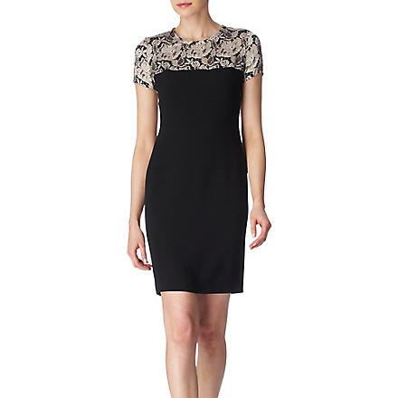STELLA MCCARTNEY Lace-shoulder dress (Black