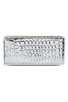 STELLA MCCARTNEY Metallic croc-embossed wallet