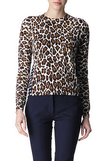 STELLA MCCARTNEY Leopard and checked jumper