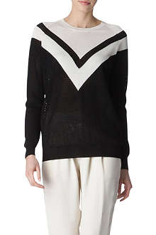 STELLA MCCARTNEY Knitted mesh jumper