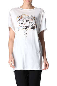 STELLA MCCARTNEY Leopard illustration t-shirt