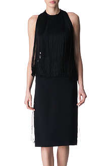 STELLA MCCARTNEY Fringed halterneck dress