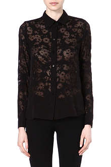 STELLA MCCARTNEY Sheer silk-blend shirt