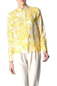 STELLA MCCARTNEY Floral-printed silk-satin shirt