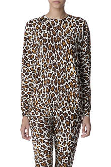 STELLA MCCARTNEY Knitted leopard jumper