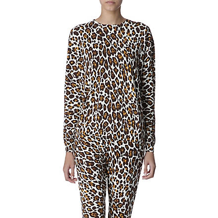 STELLA MCCARTNEY Knitted leopard jumper (Multi