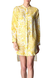 STELLA MCCARTNEY Floral-printed silk tunic dress