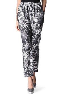 STELLA MCCARTNEY Floral-printed silk trousers