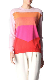 STELLA MCCARTNEY Oversized colour-block cashmere jumper