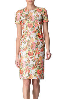 STELLA MCCARTNEY Floral jacquard panelled dress