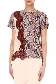 STELLA MCCARTNEY Python-print and lace top