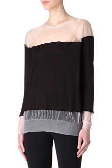 STELLA MCCARTNEY Sheer panel jumper