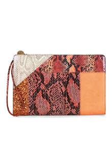 STELLA MCCARTNEY Contrast-panel clutch