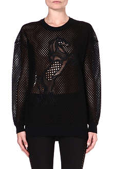 STELLA MCCARTNEY Airtex-mesh sweatshirt