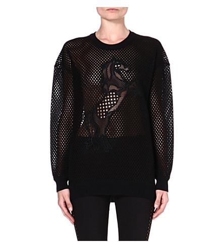 STELLA MCCARTNEY Airtex-mesh sweatshirt (Black