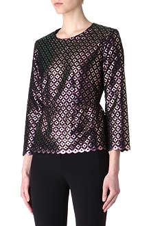 STELLA MCCARTNEY Metallic cut-out top