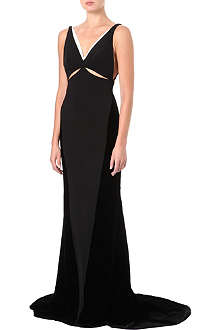 STELLA MCCARTNEY Velvet cut-out gown