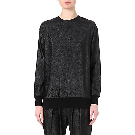 STELLA MCCARTNEY Metallic lurex sweatshirt (Black