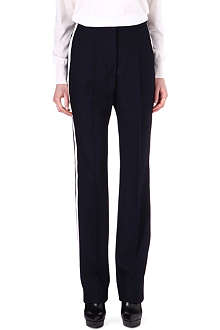 STELLA MCCARTNEY Stripe-detail wide-leg wool trousers