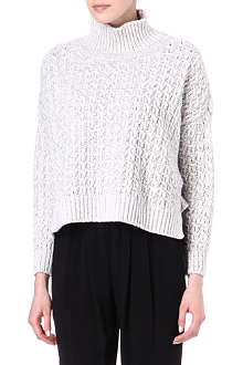 STELLA MCCARTNEY Roll-neck cable-knit jumper