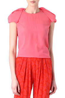 STELLA MCCARTNEY Pleated-shoulder top