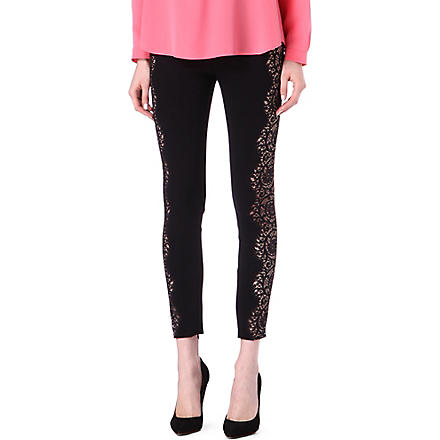 STELLA MCCARTNEY Lace-detailed leggings (Black