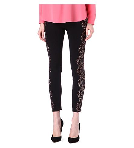 STELLA MCCARTNEY Lace-detailed leggings (Black