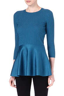 STELLA MCCARTNEY Knitted peplum top