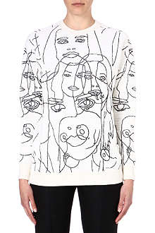 STELLA MCCARTNEY Faces jersey sweatshirt