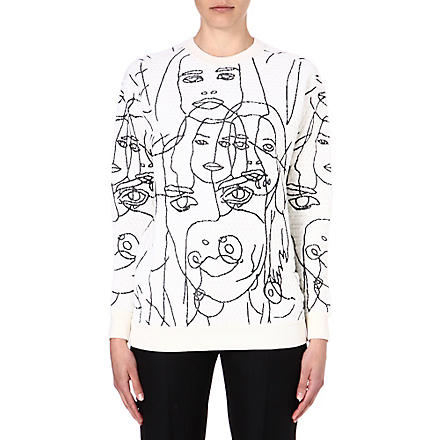 STELLA MCCARTNEY Faces jersey sweatshirt (White