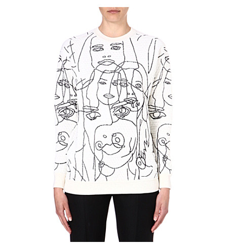 STELLA MCCARTNEY Faces jersey sweatshirt (White