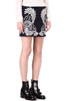 STELLA MCCARTNEY Flower embroidered mini skirt