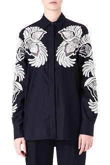 STELLA MCCARTNEY Feather jacquard shirt