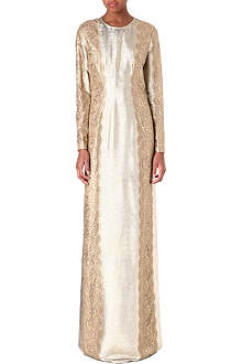 STELLA MCCARTNEY Embroidered metallic dress