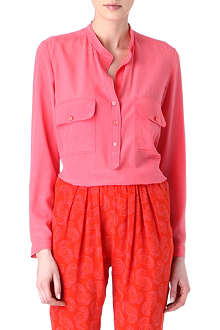 STELLA MCCARTNEY Collarless silk blouse