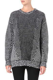 STELLA MCCARTNEY Contrast-panel oversized jumper