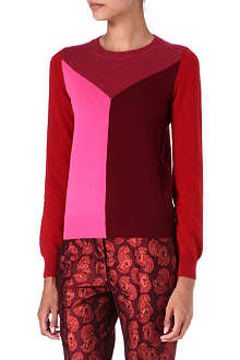 STELLA MCCARTNEY Colour-block cashmere jumper